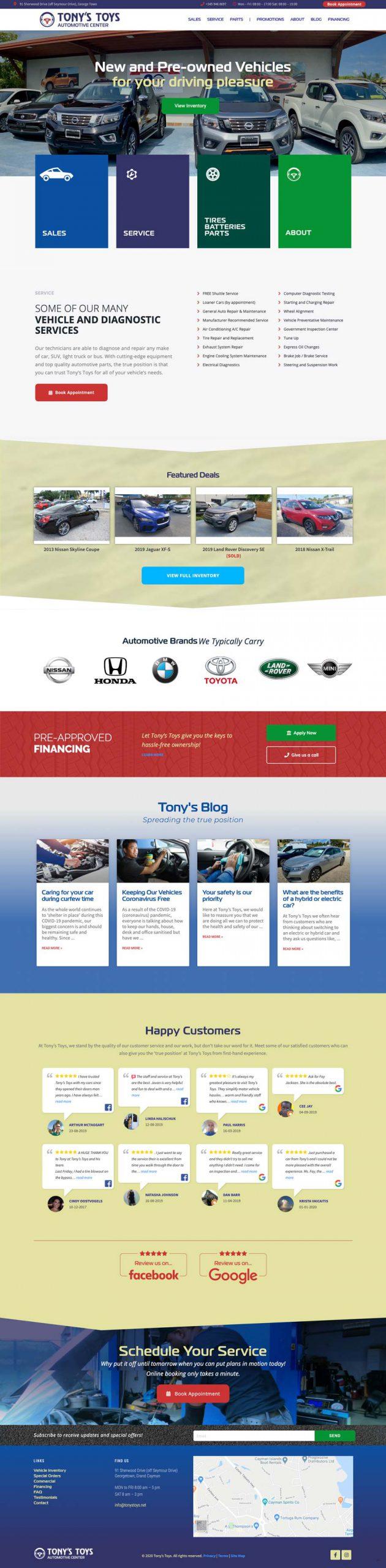 Website Design for Tonys Toys